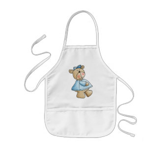 Lil' Bears · Baby Boy Blue Shirt Kids' Apron