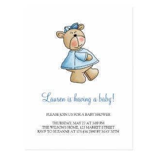 Lil' Bears · Baby Boy Blue Shirt Postcard