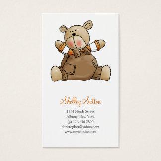 Lil' Bears · Baby Boy Brown Romper Business Card