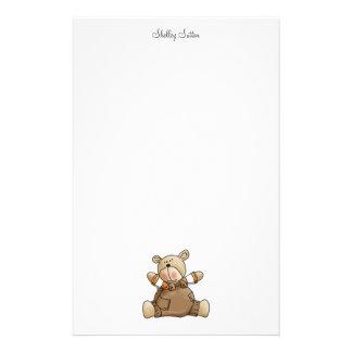 Lil' Bears · Baby Boy Brown Romper Stationery