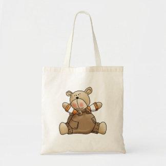 Lil' Bears · Baby Boy Brown Romper Tote Bag