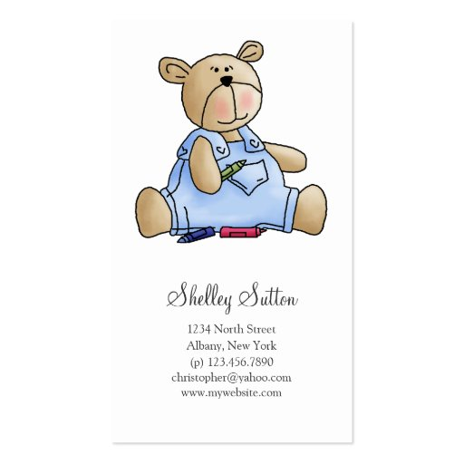 Lil' Bears · Baby Boy Crayons Business Card Template
