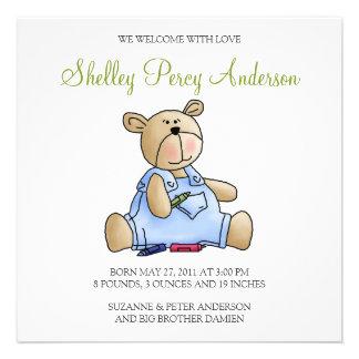 Lil' Bears · Baby Boy Crayons Custom Invite