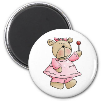 Lil' Bears · Baby Girl Pink Dress Magnet