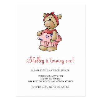 Lil' Bears · Baby Girl Pink Pyjamas Postcard