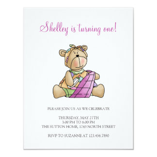 Lil' Bears · Baby Girl Purple Blanket Card