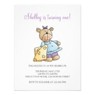 Lil' Bears · Baby Girl Yellow Blanket Custom Announcement