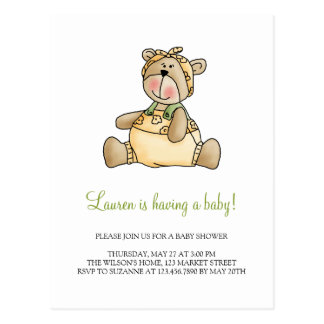 Lil' Bears · Baby Girl Yellow Romper Postcard