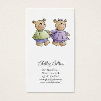 Lil' Bears · Baby Twins Green & Purple Business Card