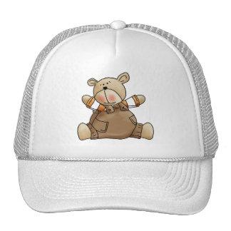 Lil' Bears Boy Brown Romper Trucker Hat