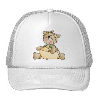 Lil' Bears Girl Yellow Romper Trucker Hat