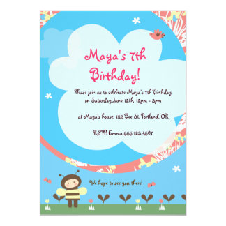 Lil' Bee Birthday Invites