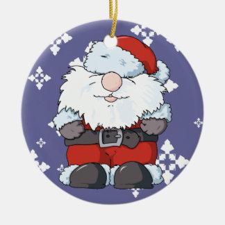 Lil' Big Beard Santa and Miss Clause Ceramic Ornament