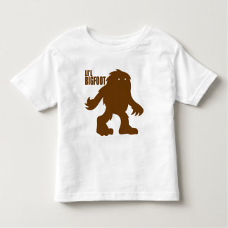 LI'L BIGFOOT Adorable Logo - Cute Brown Sasquatch Toddler T-shirt