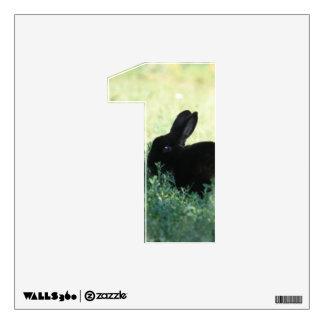 Lil Black Bunny 1 Wall Decal