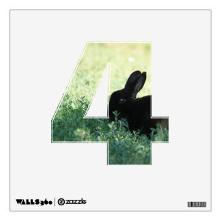 Lil Black Bunny 4 Wall Decal