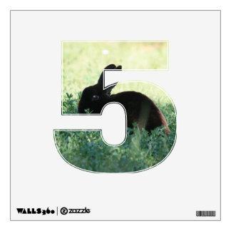 Lil Black Bunny 5 Wall Decal