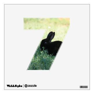 Lil Black Bunny 7 Wall Decal
