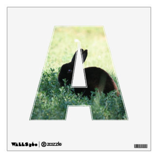 Lil Black Bunny A Wall Decal