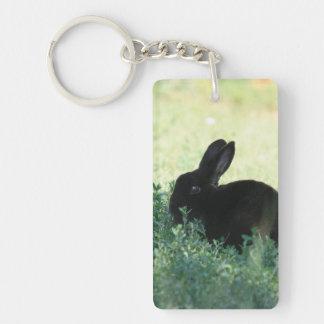 Lil Black Bunny Acrylic Keychain