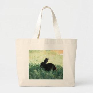 Lil Black Bunny Tote Bag