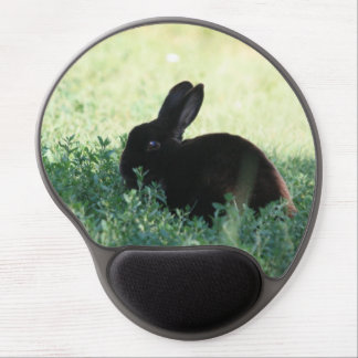 Lil Black Bunny Gel Mouse Mats
