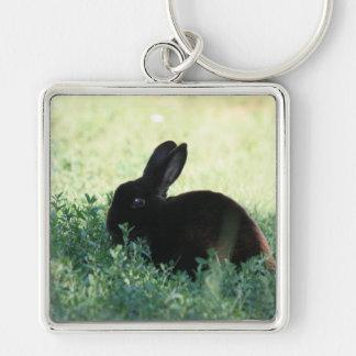 Lil Black Bunny Large Premium Keychain