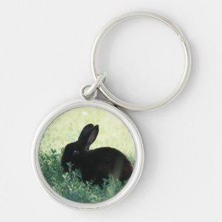 Lil Black Bunny Small Premium Keychain