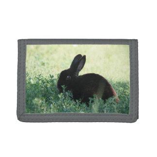 Lil Black Bunny Tri-fold Wallets