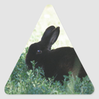 Lil Black Bunny Triangle Sticker