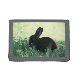 Lil Black Bunny Trifold Wallet