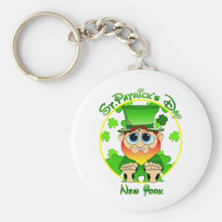 LIl Blarney in NY for St Patty's Day Keychain