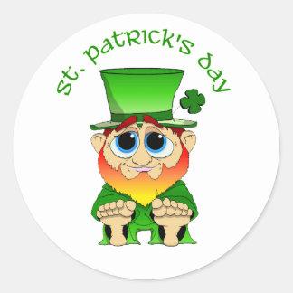 Lil Blarney St Patricks Day Classic Round Sticker