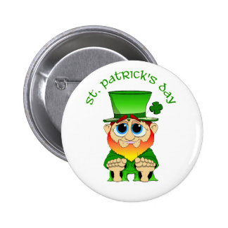 Lil Blarney St Patricks Day Pinback Button