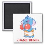 Lil Blue Elephant Boxing Magnet