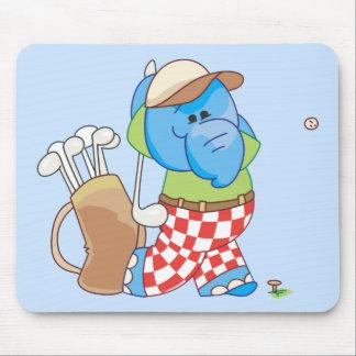 Lil Blue Elephant Golfing Mouse Pad