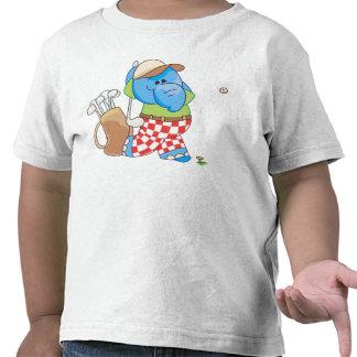 Lil Blue Elephant Golfing T Shirts