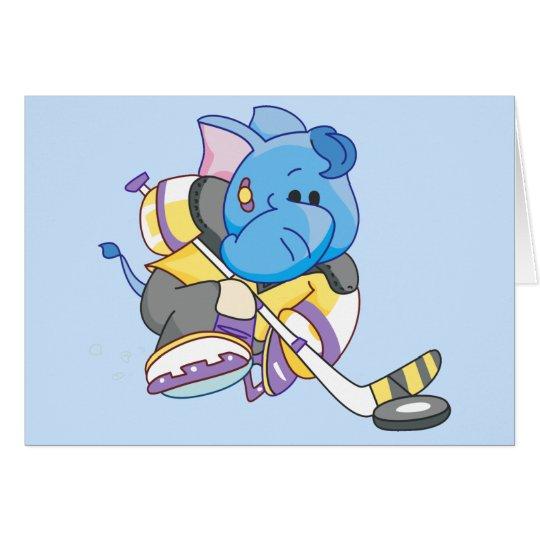 Lil Blue Elephant Hockey Card