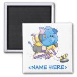 Lil Blue Elephant Hockey Magnets
