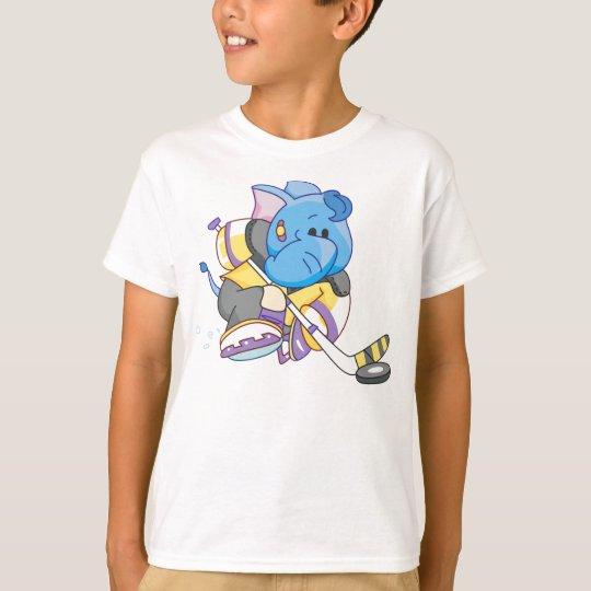 Lil Blue Elephant Hockey T-Shirt
