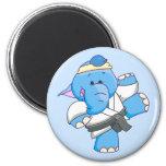 Lil Blue Elephant Karate Magnets