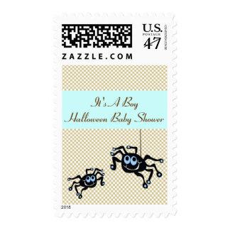 Lil Blue Spider Baby Shower Postal Stamps