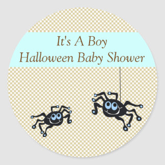 Lil Blue Spider Baby Shower Stickers