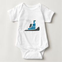 Lil Blue Tugboat Baby Bodysuit