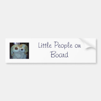 (Lil Bob & Lil Bert) Little People on Board Bumper Sticker