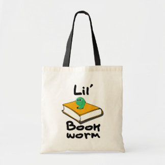 Lil' Bookworm Budget Tote Bag