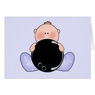 Lil Bowling Baby Boy Card