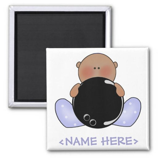 Lil Bowling Baby Boy- Ethnic Refrigerator Magnets