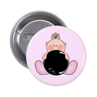 Lil Bowling Baby Girl Button