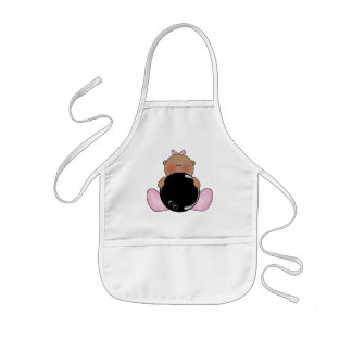 Lil Bowling Baby Girl - Ethnic Kids' Apron